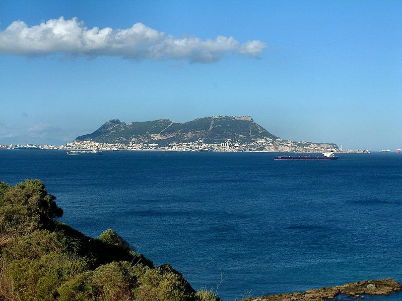 Rock of Gibraltar seen from Punta Carnero