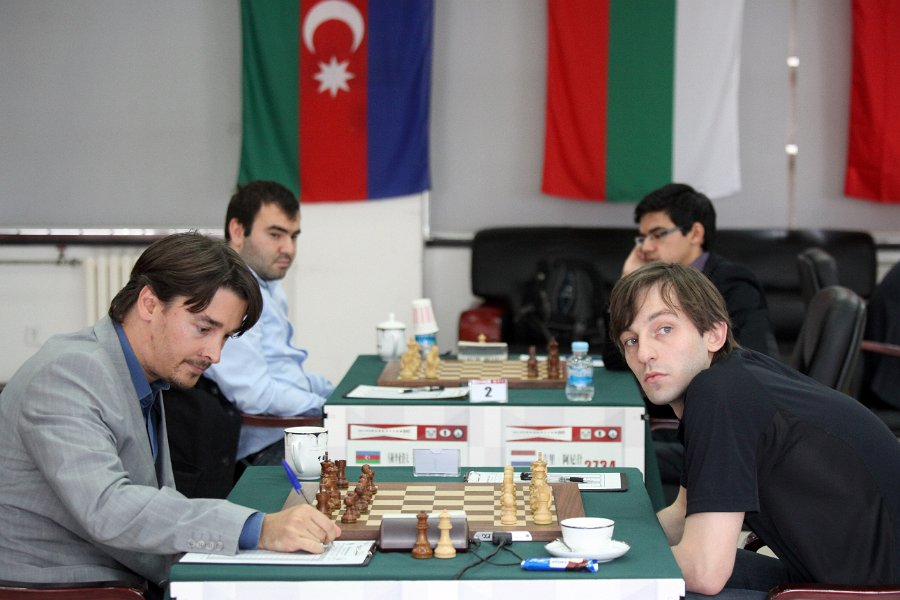 Grischuk-Morozevich, Mamedyarov-Giri in the background