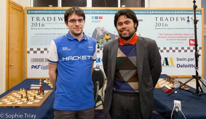 Vachier-Lagrave, Nakamura (Photo by Sophie Triay)