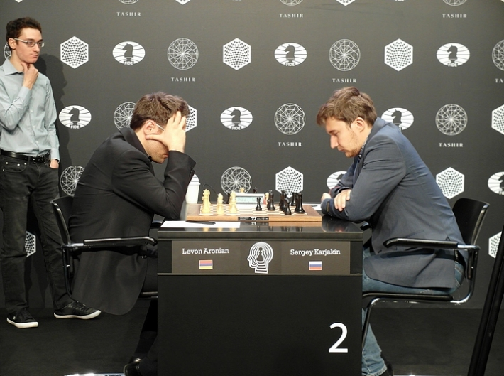 Aronian-Karjakin (Photo taken from chess-news.ru)