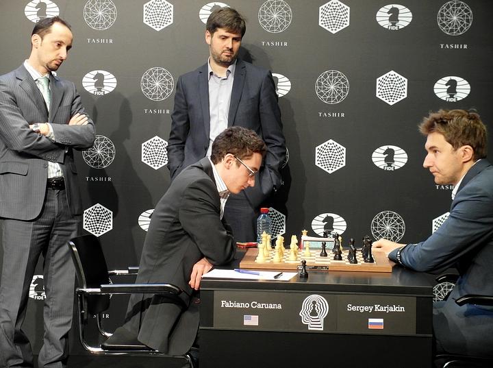 Caruana-Karjakin (Photo taken from chess-news.ru)