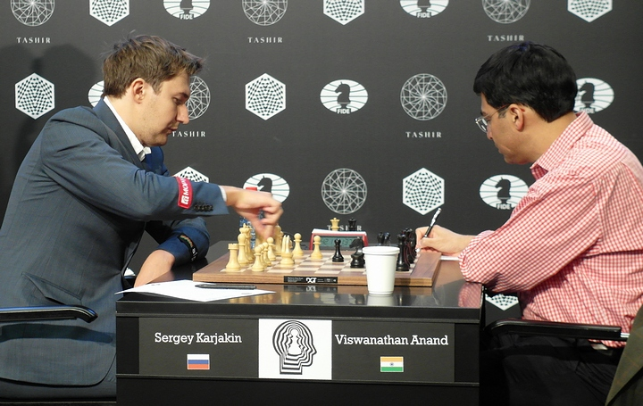 Karjakin-Anand (Photo taken from chess-news.ru)