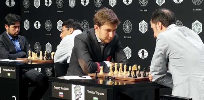 Nakamura-Anand, Karjakin-Topalov (Photo taken from chess-news.ru)