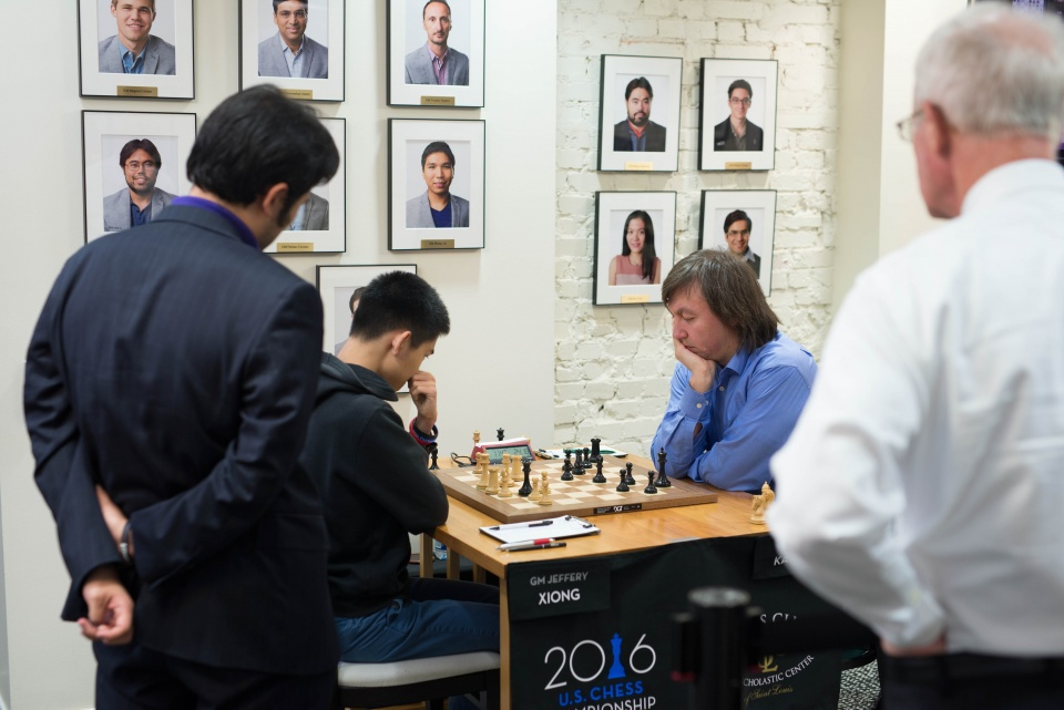 Xiong-Kamsky, Nakamura watching (Photo by Austin Fuller)