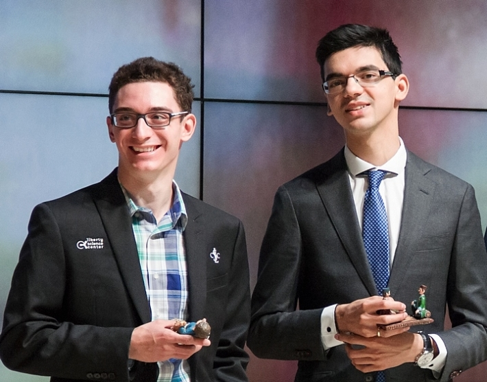 Caruana, Giri (Photo taken from chess-news.ru)