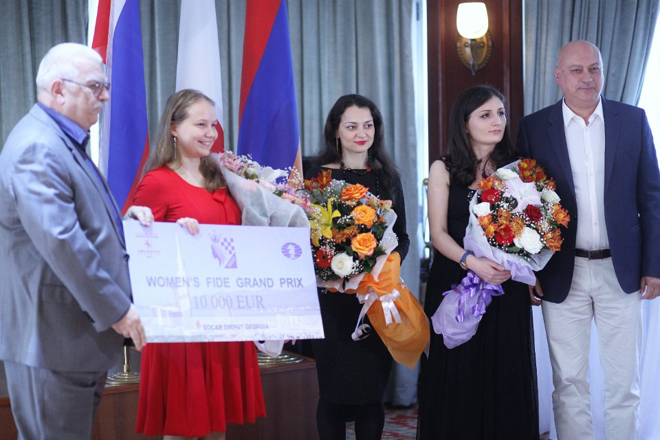 The winners - Gunina, Kosteniuk and Batsiashvili (Photo taken from the official site)