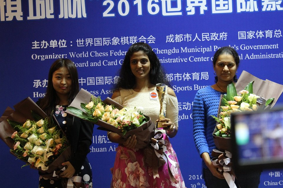 Harika - 1st, Koneru - 2nd, Ju - 3rd (Photo taken from the official site)